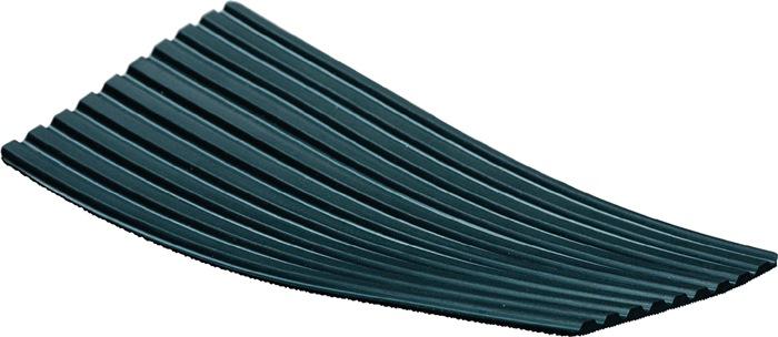 Rub. mat m.brede groeven B.1200mm opp. 12m2 zwart dik. 3mm rol MÖLLER
