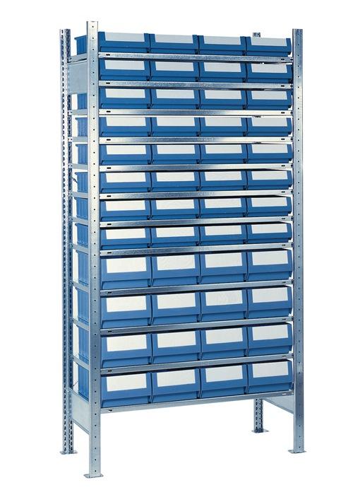 Stel.kast H2000xB1000xD300mm 12bod. verz. uitb. 32 bakken mt. 2, 16xmt3 blauw