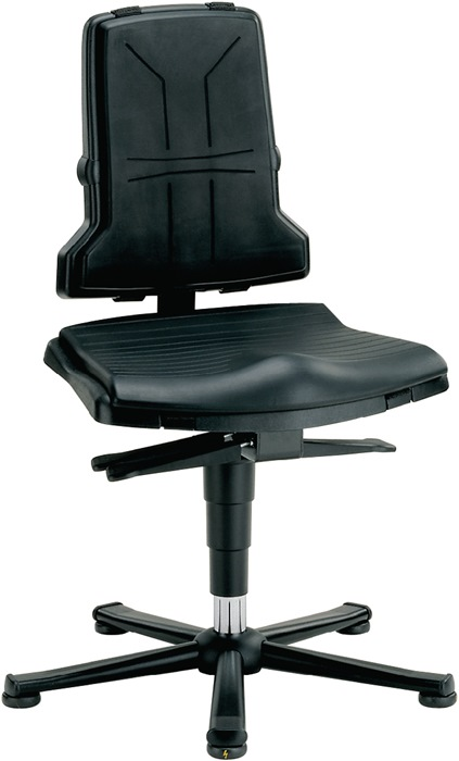 Werkdraaistoel Sintec B m.glij. PP ESD zith. 430-580mm cont.rugl./zithoek BIMOS