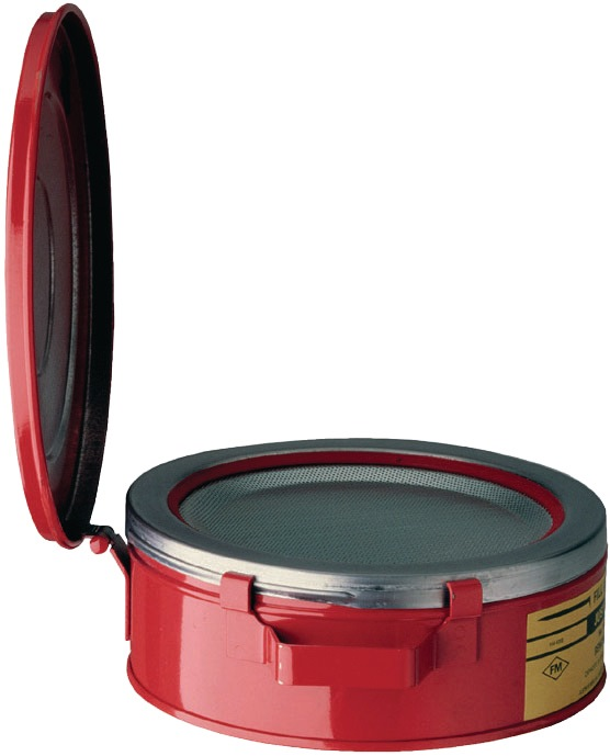 Drenkcontainer 2l bord d.238mm staalplaat rood