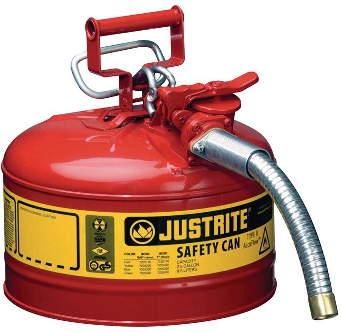Veiligheidsverdeelbak v. brandbare vloeistoffen 9,5l staalplaat rood gem.TRbF60