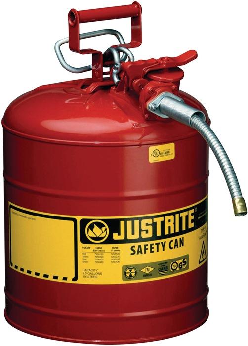 Veiligheidsverdeelbak v. brandbare vloeistoffen 19l staalplaat rood gem.TRbF60
