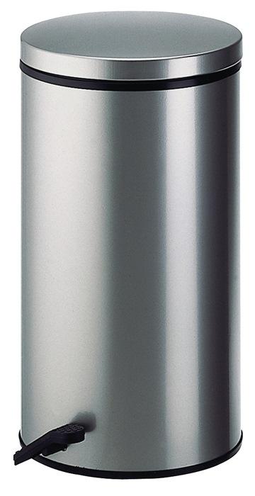 Pedaalemmer 32l staalp. zilver binnenem. verz. H.570xd.310mm deksel zilver WESCO