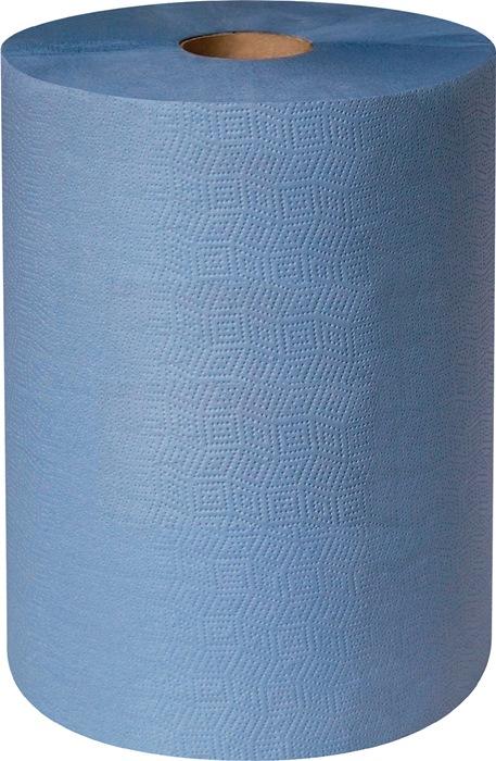 Poetsdoek profix handy plus L.380xb360mm blauw, 2lagig 500 doeken/rol