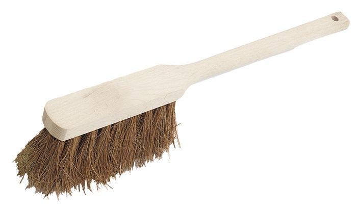 Handveger kokos lengte 450 mm lange steel met houten rug 4 rijen SOREX
