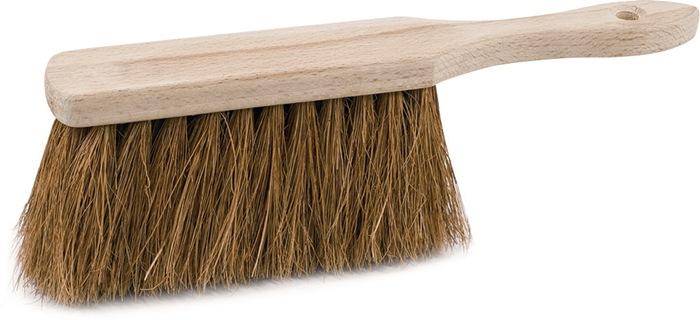 Handveger kokos lengte 280 mm met houten rug extra vol bezet 80g SOREX