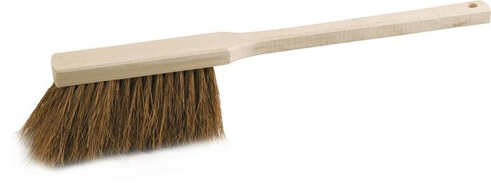 Handveger kokos L.450mm lange steel met houten rug extra vol bezet 80g SOREX
