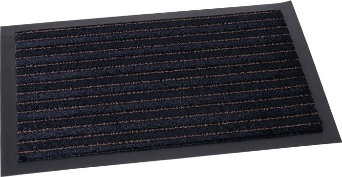 Schoonloopmat zwart B.400xL.600mm m.dubbele functie
