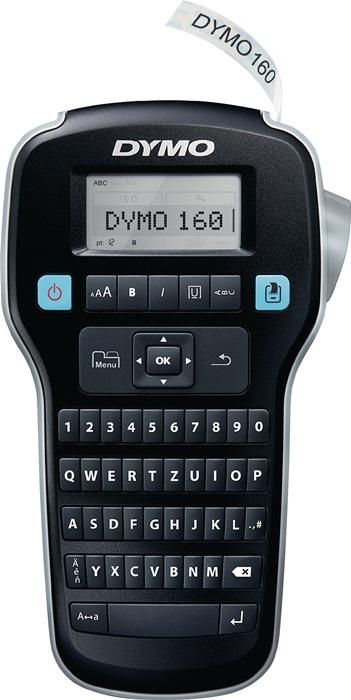 Labelp. DYMO LabelM. LM160 let.br. 6,9,12mm mob.app. 1 labelt. B.12mm zw. op wit