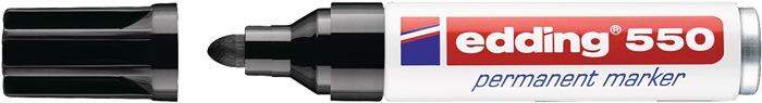 Permanentmarker edding 550 zwart ronde punt streepbreedte ca. 3-4mm EDDING