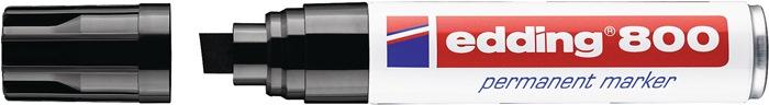 Permanentmarker edding 800 zwart spitse punt streepbreedte ca.4-12mm EDDING