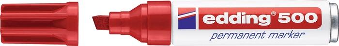 Permanentmarker edding 500 rood spitse punt streepbreedte ca.2-7mm EDDING