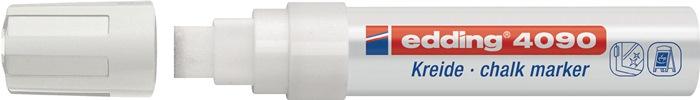 Krijtmarker edding 4090 wit spitse punt streepbreedte ca. 4-15 mm EDDING