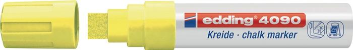 Krijtmarker edding 4090 neongeel spitse punt streepbreedte ca. 4-15 mm EDDING
