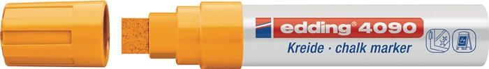 Krijtmarker edding 4090 neonoranje spitse punt streepbreedte ca. 4-15 mm EDDING
