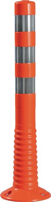 Versperpaal PU oranje/wit v.het vastschroeven m.bevestigingsmateriaal