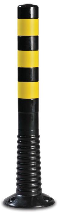 Versperringspaal PU zwart/geel d.80xH.750mm v.het vastschroeven m.bevest.mat.