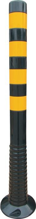 Versperringspaal PU zwart/geel d.80xH.1000mm v.het vastschroeven m.bevest.mat.