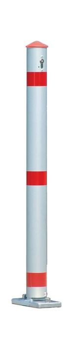Versperpaal alu kiepbaar d.75mm m.cil. versch.sluitend B760xH.500mm v.plugbev.
