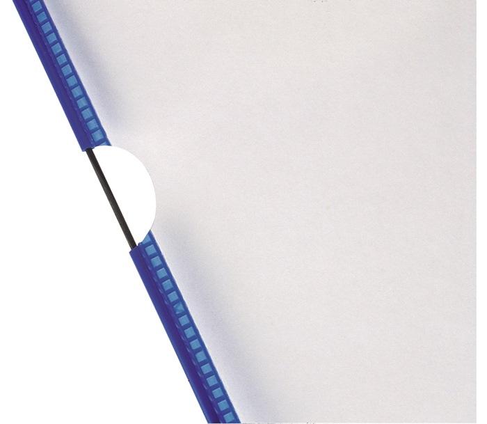 Zichtpaneel DINA4 DIN A4 PVC-fo. m.frame v.st.dr. bL. ku. mntl niet-refl. 10 s/z