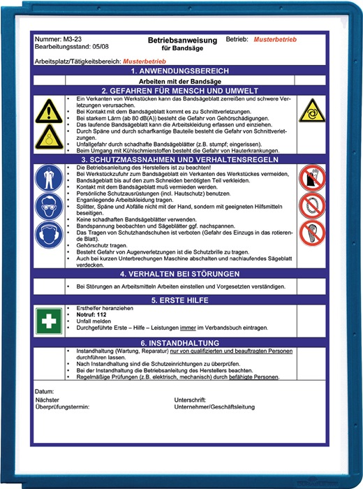 Zichtp. DIN A4 PP-fo. prof.fr. rood mat/niet-ref. doc.techt/gesch. v.scan. 5s/z