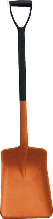 Universele schep lengte 1050 mm m.D-greep oranje PP bladmt. l350xb260xh80mm CEMO
