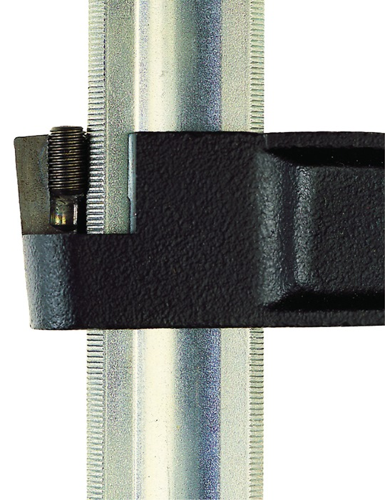 Schroefklw.1250mm, vl120mm tempergietijzer/staal raildiam.32x11mm antislip