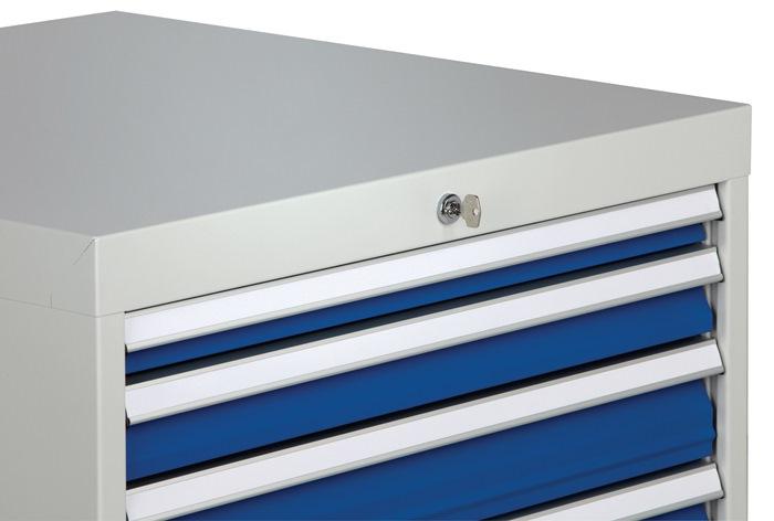 Ladekast h1019xb705xd736 grijs/blauw 1x50 1x75 1x100 1x125 2x150 1x250