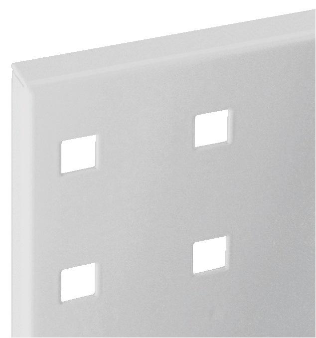 Geperforeerde plaat L500xB450mm lichtgrijs RAL 7035