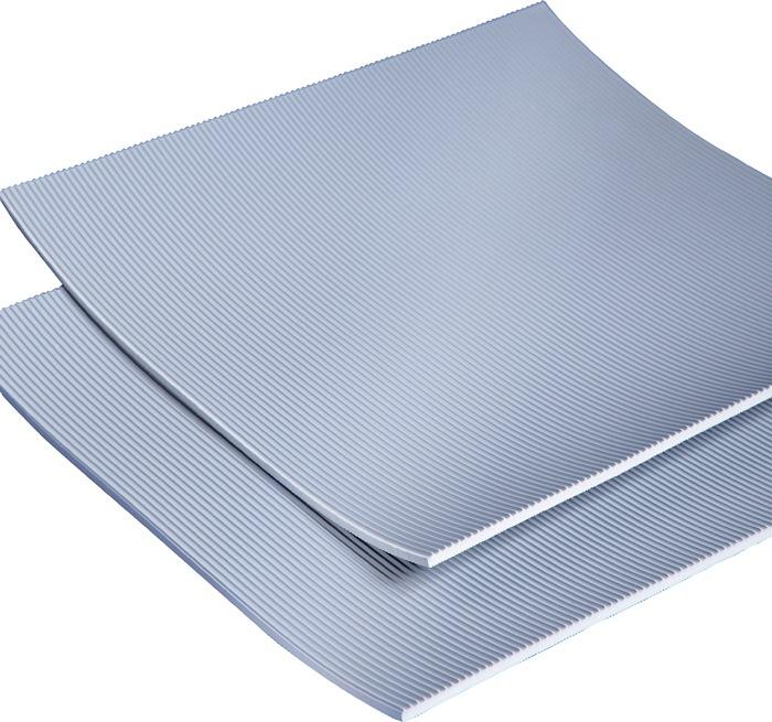 Ru. iso.mat VDE0303 max.50000 volt B1000mm opp.10m2 grijs m.l.groe. dik.4,5mm ro