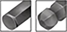 Schroefsl. vlg. ISO2936L 6kt. ko.kp. SW6 L184mm m.vergr.veer en vastzetfunctie