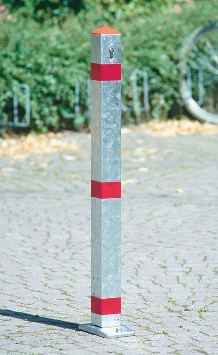 Versperpaal staal verz. m. profielcil versch.sluitend 70x70mm v.plugbevest.