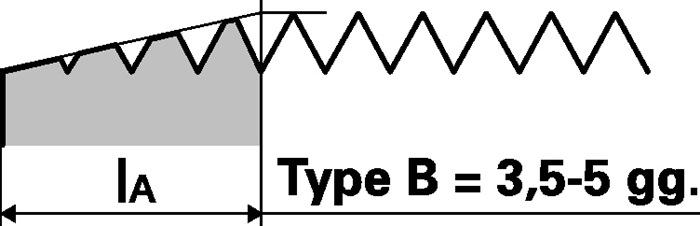 Machinetap DIN5156 vorm B-rvs blauwe ring G 3/4inch HSS-Co ISO228 PROMAT