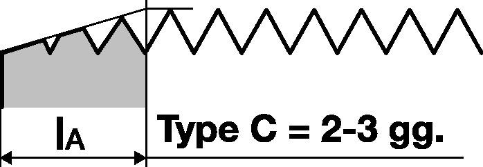 Machinetap DIN371 vorm C M6 HSS-Co ISO2 (6H) 40 graden PROMAT