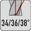 Schachtfrees fabrieksnorm d.10mm VHM TiAIN 3 sneden extra lang PROMAT