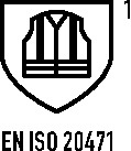 Pilotenjack EN20471 mt.XXXL 66/68 geel/grijs 1 stuk PREVENT