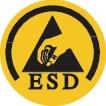 Veiligheidsschoen EN ISO 20345 ESD S3 SRC MASTER mt.47 nubuck zwart/rood