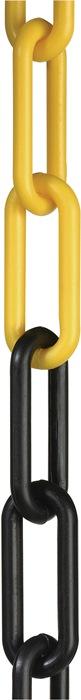 Afsluitketting schakel-d.6mm L.25m kunststof zwart/geel