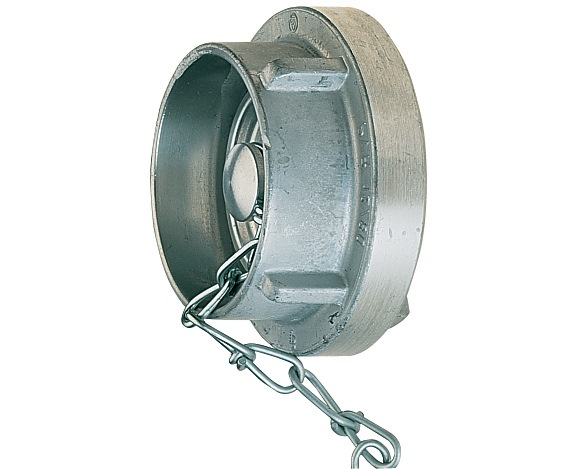 Blindkoppeling B75 lichtmetaal met ketting systeem Storz