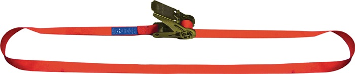 Sjortakel EN 12195-2 L.6m B.25mm LC:700 daN met palwerk omsnoering 1400daN (kg)