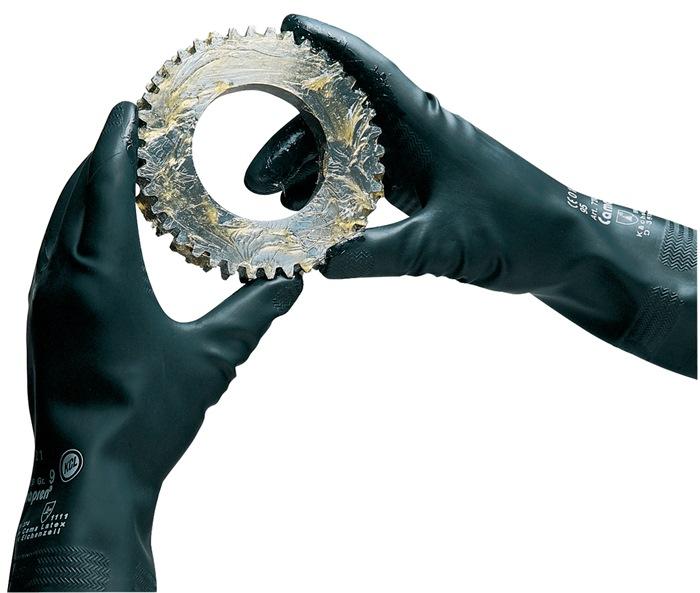 Handschoen Camapren farb.nr.720 mt8 L 300mm polychloropreen zwart gevelour.10p