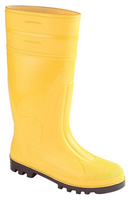 Bouwlaarzen EN20345 S5 mt.44 st.neus st.zool geel antistat. ca.38cm hoog