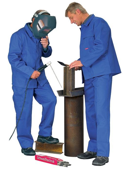 Lasjack ENISO11611 Kl.2 A1 ENISO11612 A1,B mt.54 korenblauw stofgew 400 g/m²