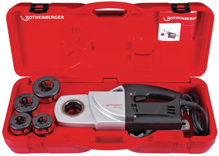 Set v.schroefdraadsnijmachine SUPERTRONIC® 1250 BSPT 1/2-3/4-1-1 1/4inch 230 V