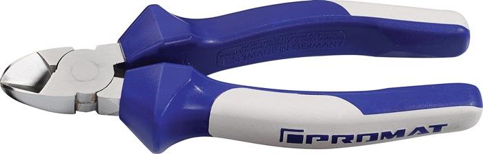 Zijsnijtang DIN ISO 5749 L.145mm 60HRC m.2-componenten handgrepen chroom PROMAT