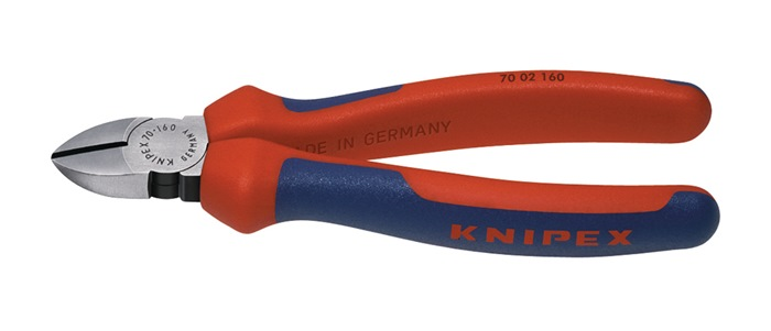 Zijsnijtang DIN/ISO 5749 L.140mm m.2-componenten handgrepen Knipex