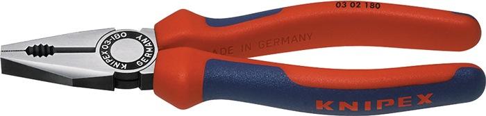 Combinatietang DIN ISO5746 L.160mm m.2-componenten handgrepen gepolijst Knipex