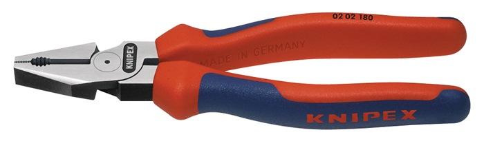 Kracht-combinatietang DIN/ISO 5746 L.180mm m.2-comp. hndgrn gepolijst