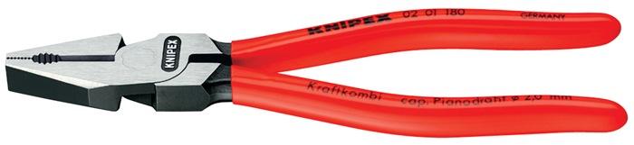 Kracht-combinatietang DIN/ISO 5746 L.180mm kunststof mantel gepolijst Knipex