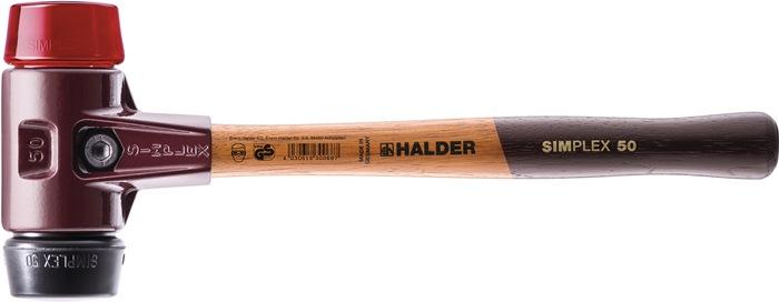 KS hamer d.60mm 1500g Simplex rubber/plastic HALDER m. houten steel